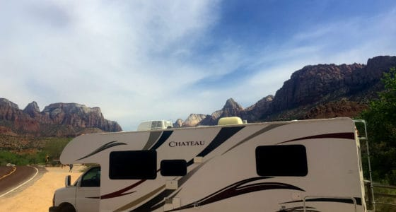 Springdale Utah Park and Ride Shuttle to Zion National Park. RV Parking in Springdale.